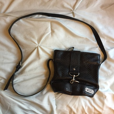 089a815b32 Black Vans purse! 🖤 Super cute and useful. Inside there s a - Depop