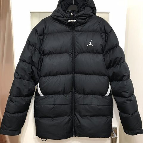 a3b277dd67d87c Men s Jordan down jacket size medium in black with and I 5 - Depop