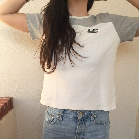 fff12e983a119 Vintage  Tommy  Tommy Hilfiger Shirt. Be cool with this crop - Depop
