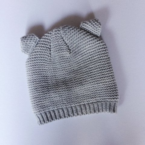 Cute Knit Baby Hat With Ears Babyclothes Knit Knitted Depop
