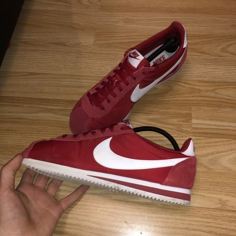 nike cortez all red grey