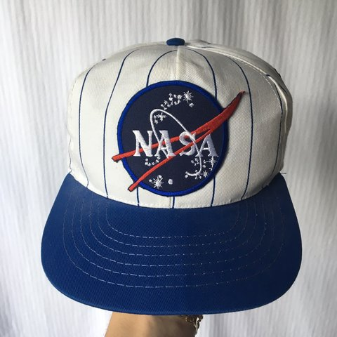 Vintage NASA SnapBack This hat is really old. The brim is - Depop b4b1e12d742