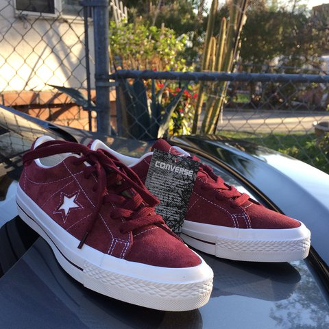 3c7f113a2e5 @veggiedog. last year. South Gate, United States. Beautiful Converse One  Star Ox in shade Deep Bordeaux/White.