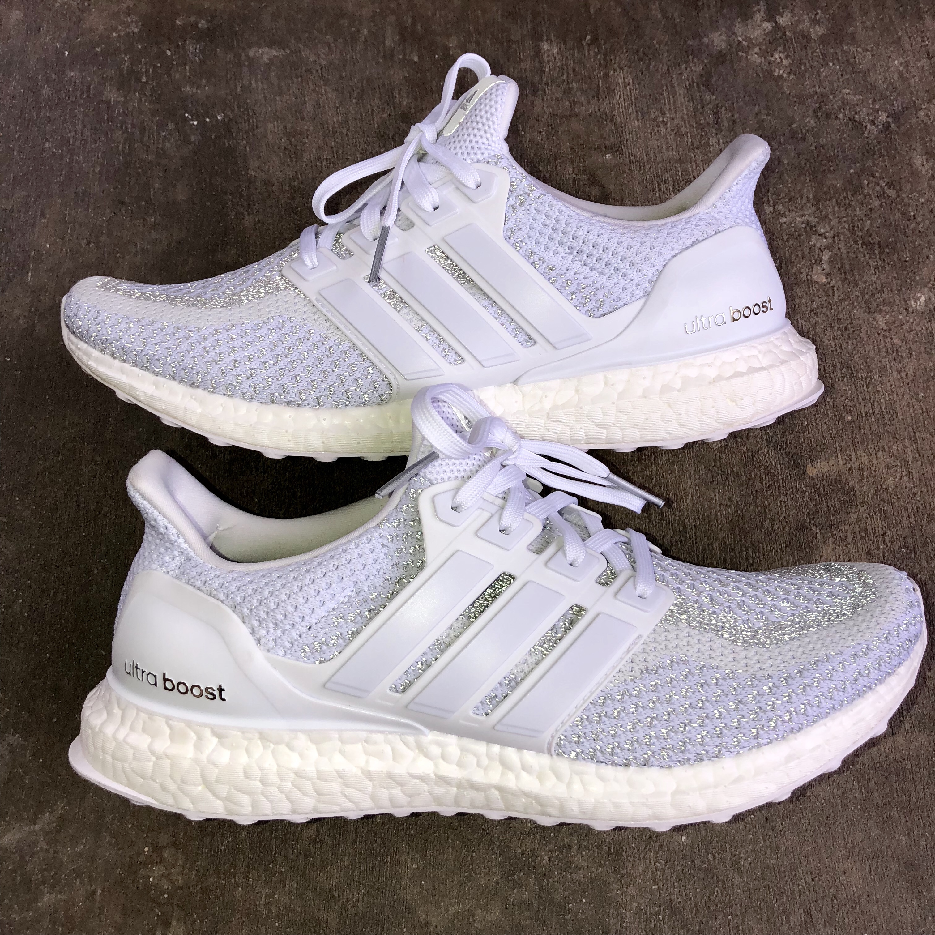 new concept 5d481 fce35 Adidas Ultra Boost 2.0 Triple White!! Only worn... - Depop