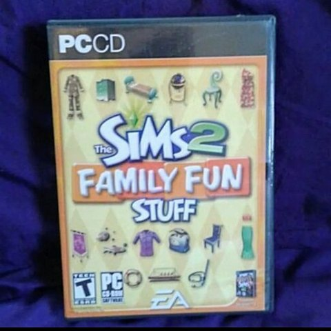 The Sims 2 Family Fun Stuff PC Game Excellent Scratches