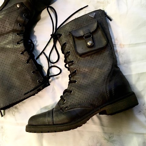 ROXY brand black combat boots with