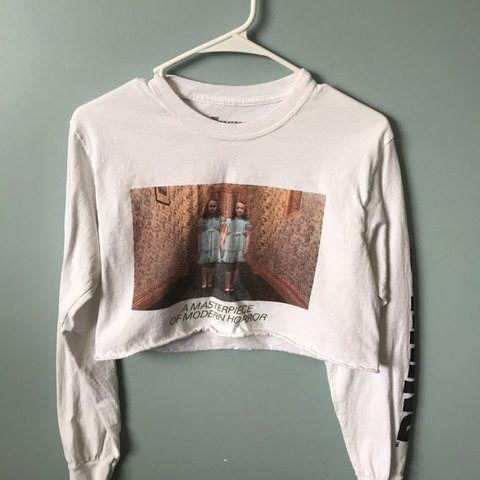 19e04dd6d07e Shining cropped shirt from Forever 21, worn twice and cute - Depop