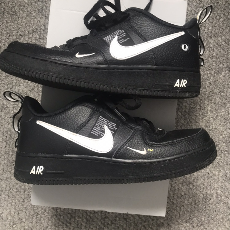 Nike Air Force 1 LV8 Utility Black 10:10 condition Depop