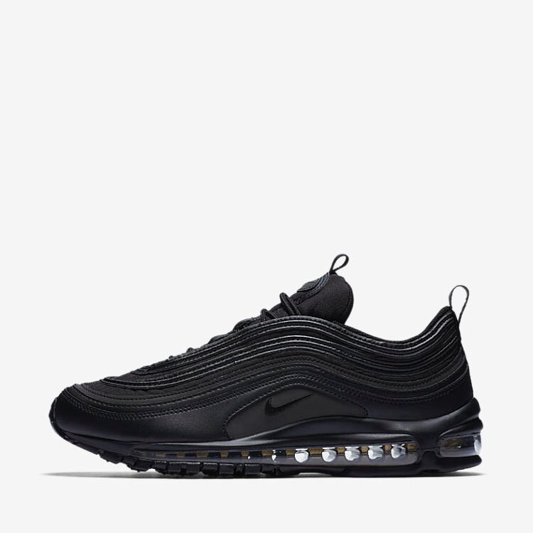 Nike Air Max 97 premium SE Black and Gold Black Depop