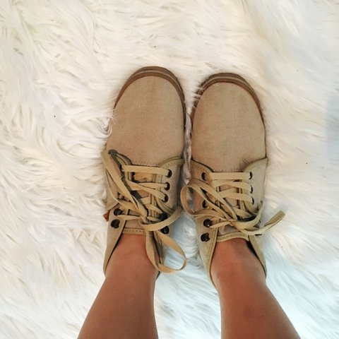 Tan Vans booties that have only been worn once a couple ago! - Depop 6753c67d6