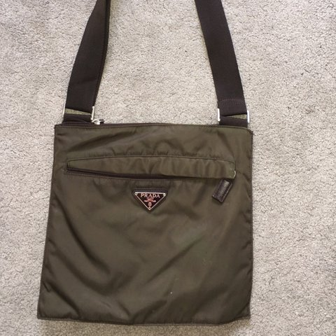 1725adedf804 @fussellz. 24 days ago. Harlow, United Kingdom. NEED GONE TODAY! Prada man  bag/ Prada bag in khaki green