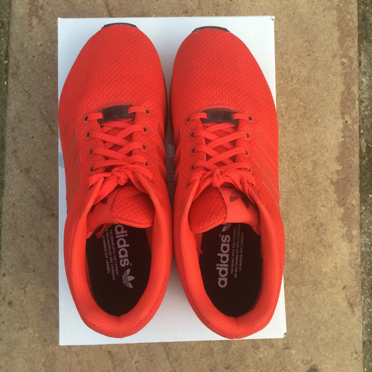 official photos 6648e 53eae Adidas Mi ZX Flux Originals triple red - red with... - Depop