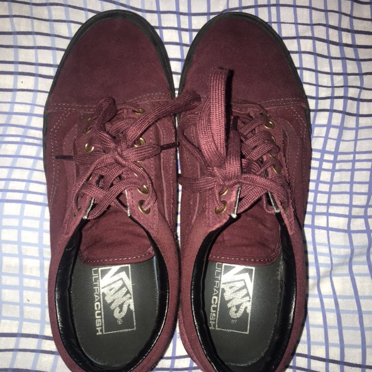 4de842e537 Vans old skool. Burgundy with black sole. Perfect condition
