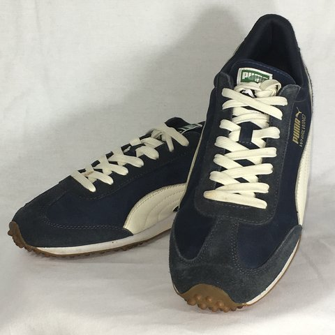 5bfa9549ee113d Puma Whirlwind Classic Trainers Shoes Sneakers Navy Blue on - Depop