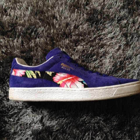 551a0b4c2d5 Puma trainers. Eco ortholite addition. Men s size 9. Blue a - Depop