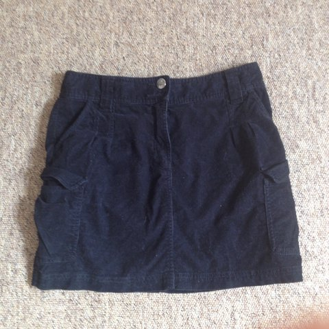e03e866c07 @eprovins. 2 years ago. Bristol, United Kingdom. Black cord denim mini skirt.  Size 10.