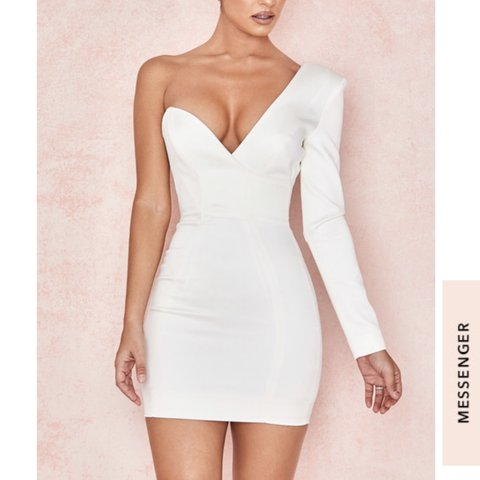 8c22d1a60fcb House of CB Tiffany dress SOLD OUT Off white one shoulder I - Depop