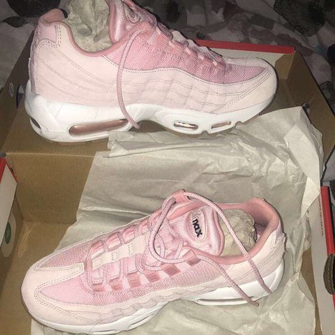 0e1ef4bb38 @haaarls. last year. Manchester, United Kingdom. Size 6 NEVER WORN Nike  AirMax 95. Baby pink nude white soles. BRAND NEW