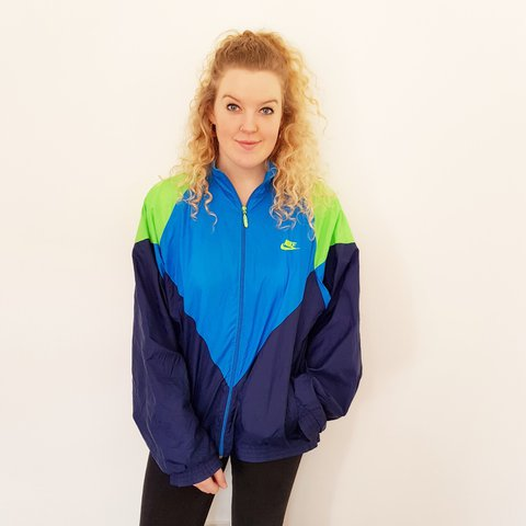 Vintage   retro   colourful   Nike   festival track jacket   - Depop 5e3658db9