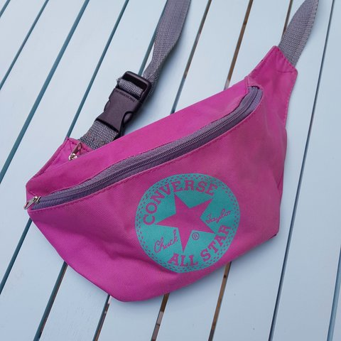 Vintage small converse bum bag. Colour - pink purple + - - - Depop 217951b2fb473