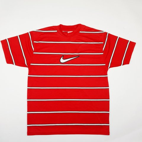 4be143dc @vinsportage. 2 months ago. United Kingdom, GB. Rare 90s vintage Nike t- shirt with big swoosh ...