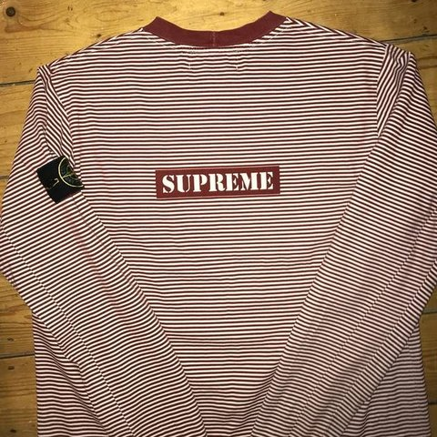 edb8883d81 @thomadepop. 6 months ago. Bromsgrove, United Kingdom. Stone island x  supreme striped long sleeve T-shirt ...