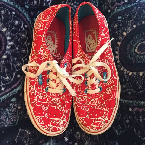 541ec0778 @araiahrose. last month. Felton, United States. Vans X Hello Kitty -authentic  red- ...