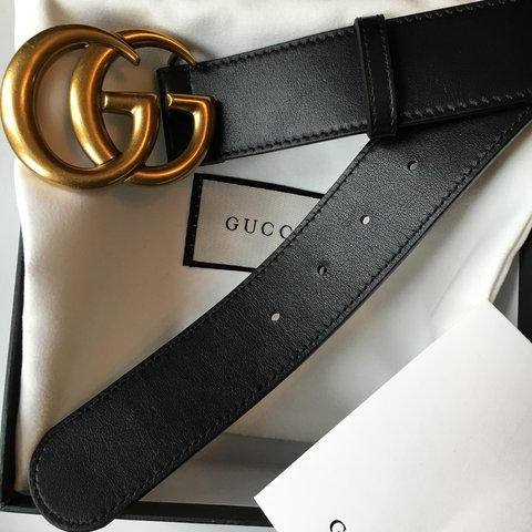 2d39e60aa @lordson. 3 years ago. London, UK. Gucci black leather belt with double G  buckle.