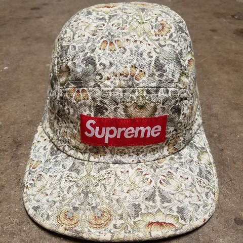 896ad57912a Supreme X Liberty floral camp cap. 8.5 10 This hat has on - Depop