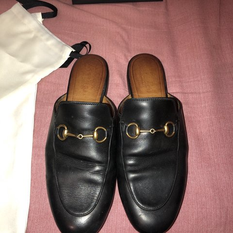 7d92b2469 Gucci Princetown Slippers/ loafers Used - Worn a few are of - Depop
