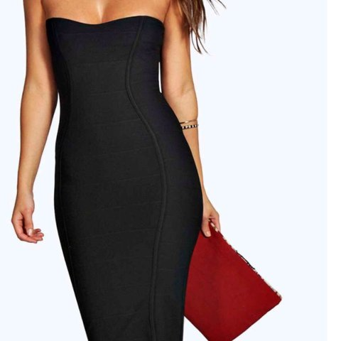 58367cdabb9c @tjoliverx. 2 years ago. Derbyshire, United Kingdom. Boohoo black Gia  Bandeau Bandage Midi Bodycon Dress ...