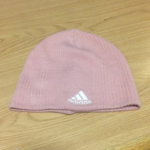 c0b911cd087be Baby pastel pink vintage authentic Adidas beanie hat - never - Depop