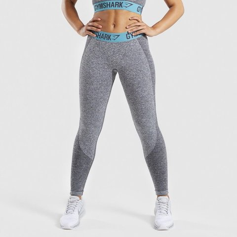 feb21f809ff71 Gymshark Grey and teal flex leggings. Have the design that - - Depop