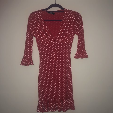 0d636e970a6 Missguided red polkadot tea dress Never worn