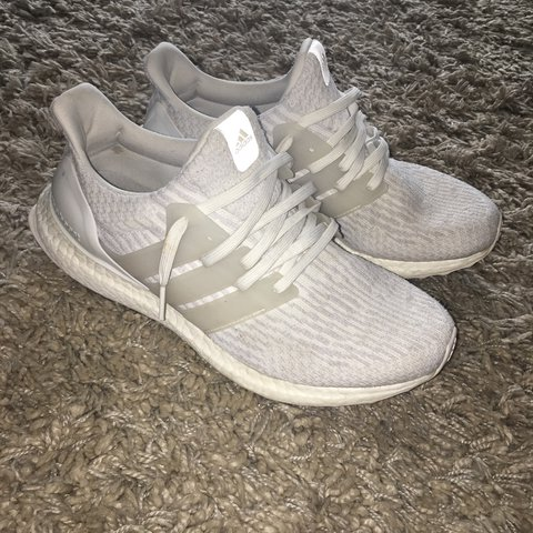 c89457cf9 Adidas ultra boost 3.0 triple white Used but in very good is - Depop