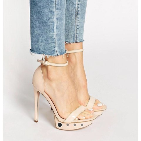 292f4e386e13 ASOS nude pink strappy heels. Size 4. RRP £45. Worn once or - Depop