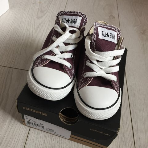 278f0895363693 Brand New Converse Trainers with box. Kids UK Size 9 - Depop