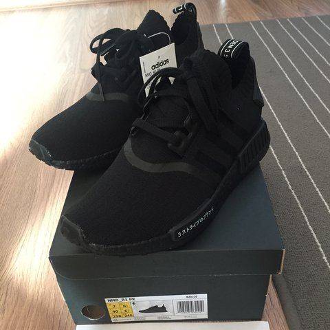 8c3e9e48baecc Adidas NMD R1 Japan Primeknit triple black . Limited edition - Depop