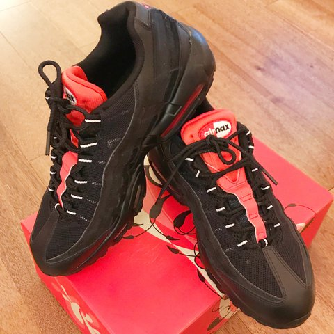 new style 10c8c a2f21  tresdemented. last year. Glasgow, United Kingdom. Nike Air Max 95  Essential 749766 016 Black Challenge Red White Mens Running Shoes