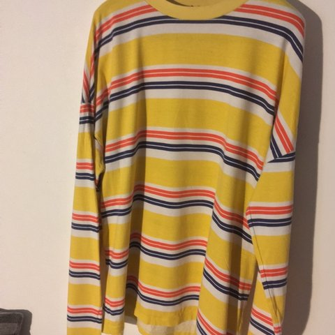 36dcf55209 @hazza1811. 3 months ago. Brighton, United Kingdom. ~ASOS Long Sleeve Striped  Tee ~Yellow/Red, Blue, White Stripes