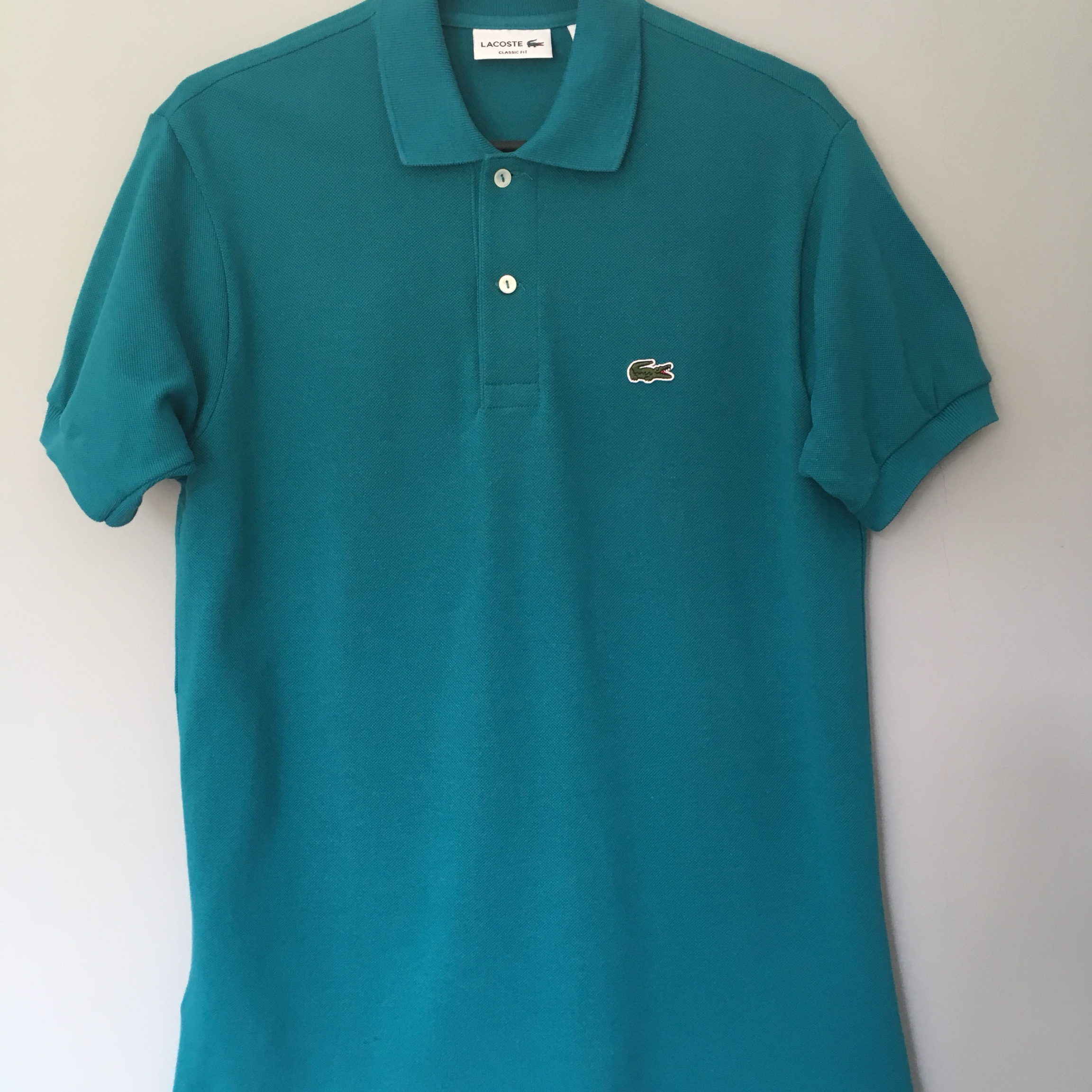 *REDUCED*......Mens Lacoste polo shirt, teal colour,...