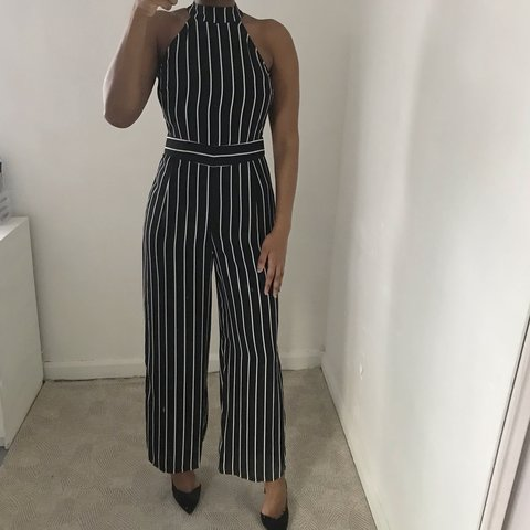 66f190006a8d Primark black and white striped jumpsuit