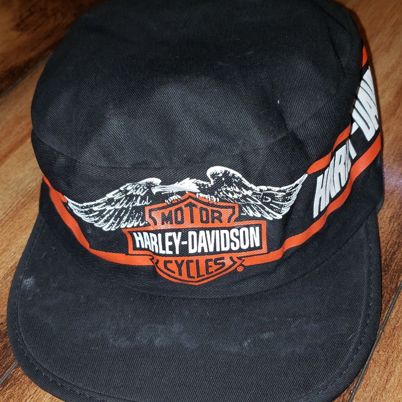 Vintage 80s Harley Davidson Painters Cap Made in USA Super - Depop dce7fb1a885