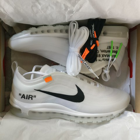new arrival 4ee74 3182d THE TEN Nike AIR MAX 97 X Virgil Abloh Off White Size UK 8 - Depop