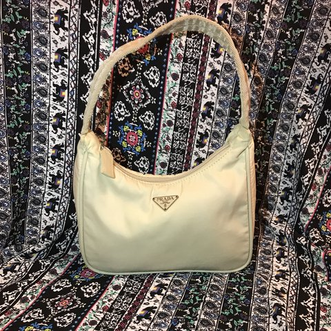 6cf85ddcd5ccc9 @woahthereliz. 5 months ago. Pompano Beach, United States. Authentic Prada  Tessuto Sport Nylon bag in color Cream