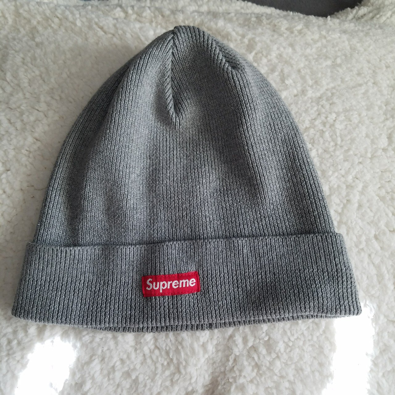 Supreme grey small box logo beanie from SS14 - deadstock - - Depop 2b42ed74d56