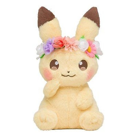 Image result for pikachu with pink flower
