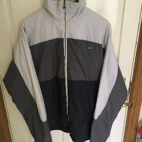 2bdcaf39e36a8 Nike Air TN Steal Woven Luxury Men s Jacket Parka Coat 247830 White .