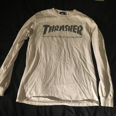 c2cfa21c1525 @happyhippiegurl. 6 months ago. Willow Street, United States. White long  sleeve thrashers T-shirt in size small.