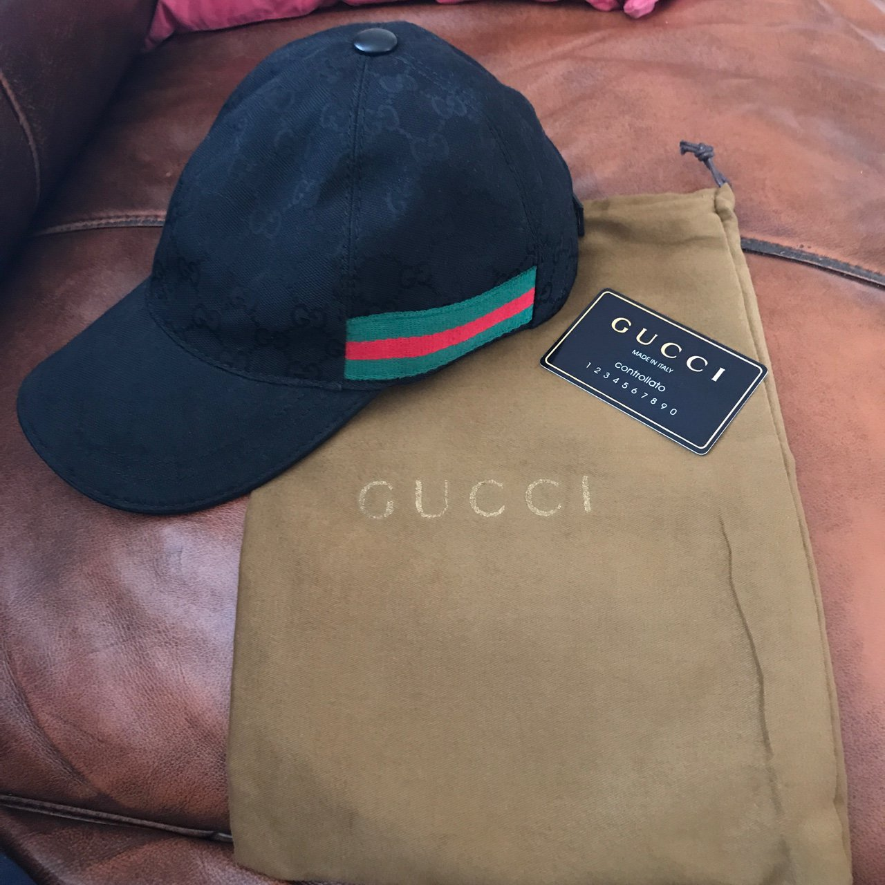 Gucci Hat - only worn a handful of times. Comes with dustbag - Depop 182810ec131